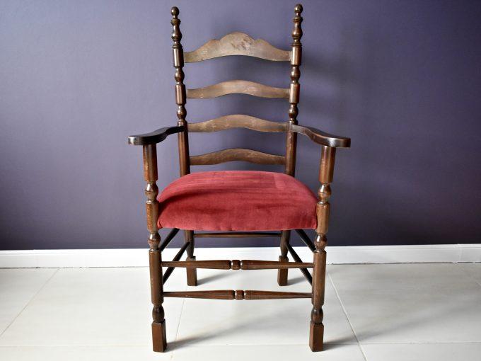 Meble vintage, fotel gabinetowy eklektyk .