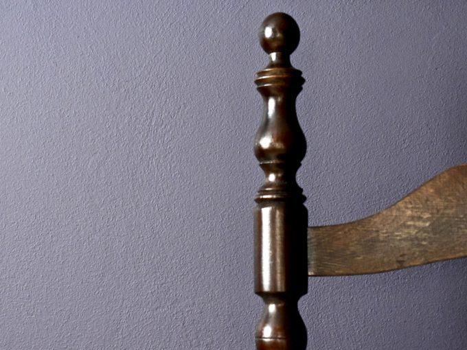 Fotel gabinetowy vintage eklektyk mebel drewniany.