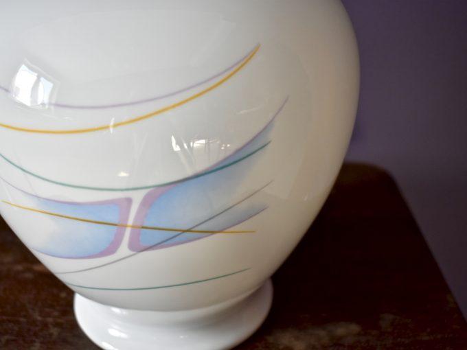 Vintage wazon porcelanowy op-art dekoracja i dodatek do domu.