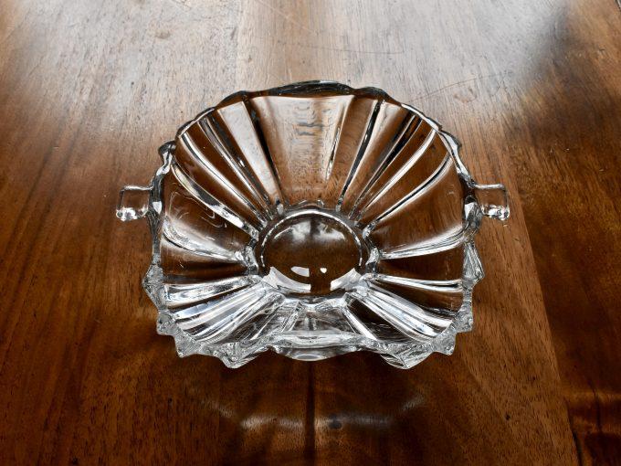 mała miska vintage ze szkła naczynie dodatek do domu najlepszy na stół