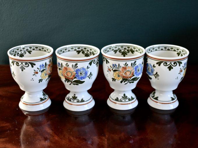Cztery duże porcelanowe kielichy vintage do grzańca z serii Alt Amsterdam marki Villeroy & Boch