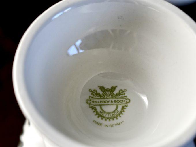 Sygnatura na kielichu o grzańca vintage porcelana