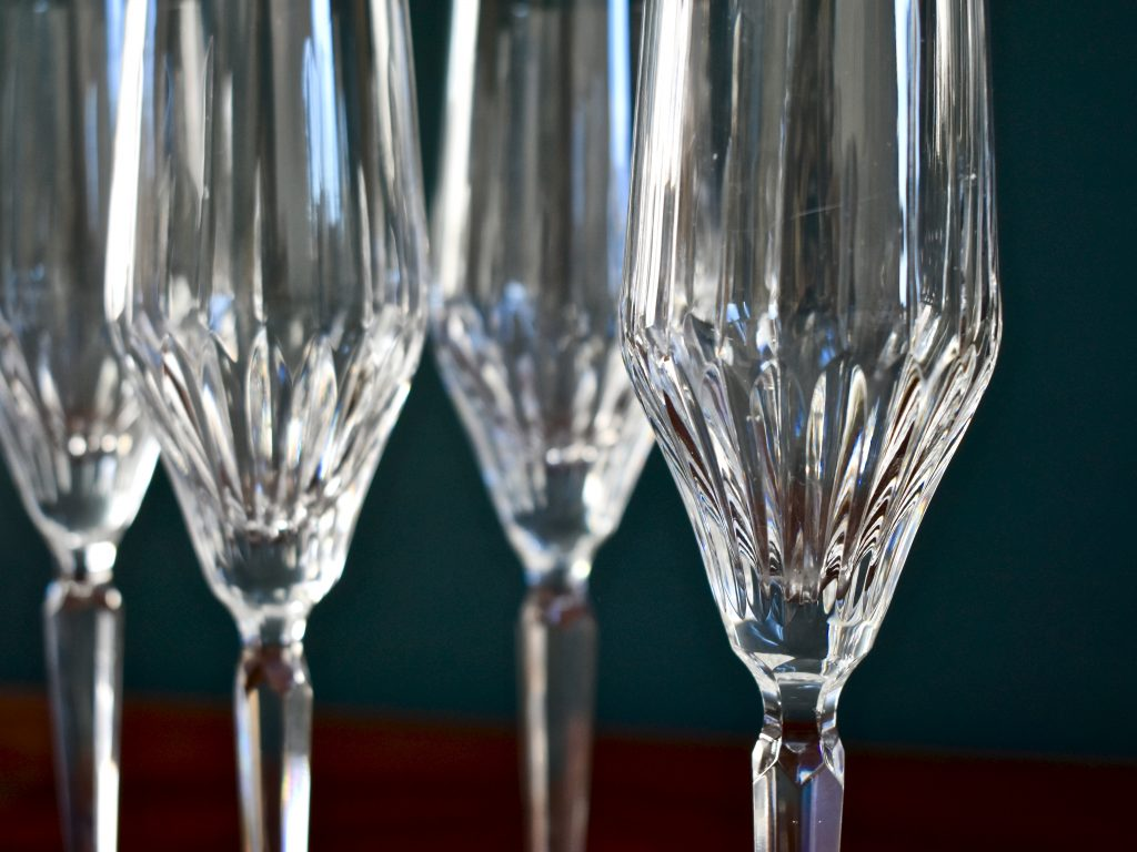 Kieliszki do szampana kryształowe vintage
