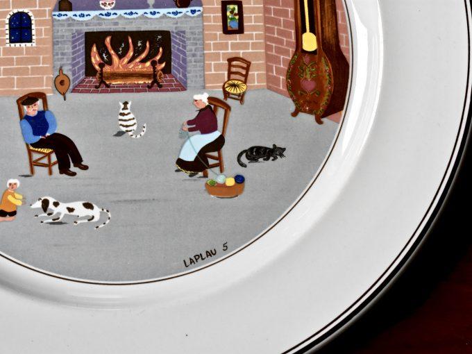 Obraz Laplau na porcelanowym talerzu vintage od Villeroy & Boch z serii Design Naif