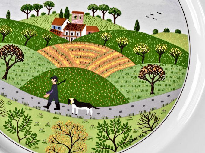 Porcelanowy talerz Design Naif z motywem wiejskim od Villeroy & Boch