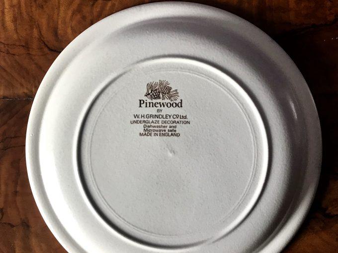 talerz ceramiczny vintage Pinewood made in england