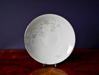 Duży porcelanowy półmisek vintage z motywem roślinnym
