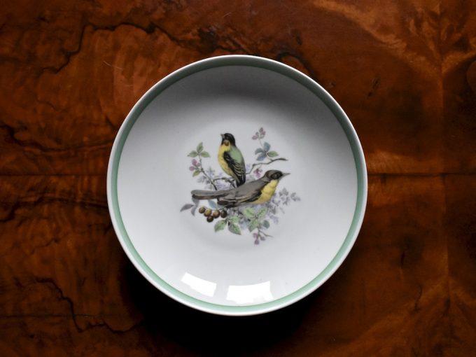 Dekoracyjny talerzyk wiszący z ptakami
