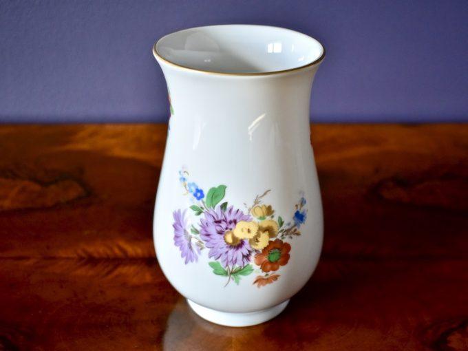 vintage wazonik porcelanowy dekoracja kwiaty kolory