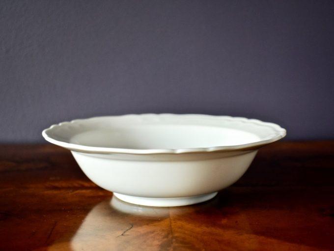miseczka salaterka porcelana vintage biała