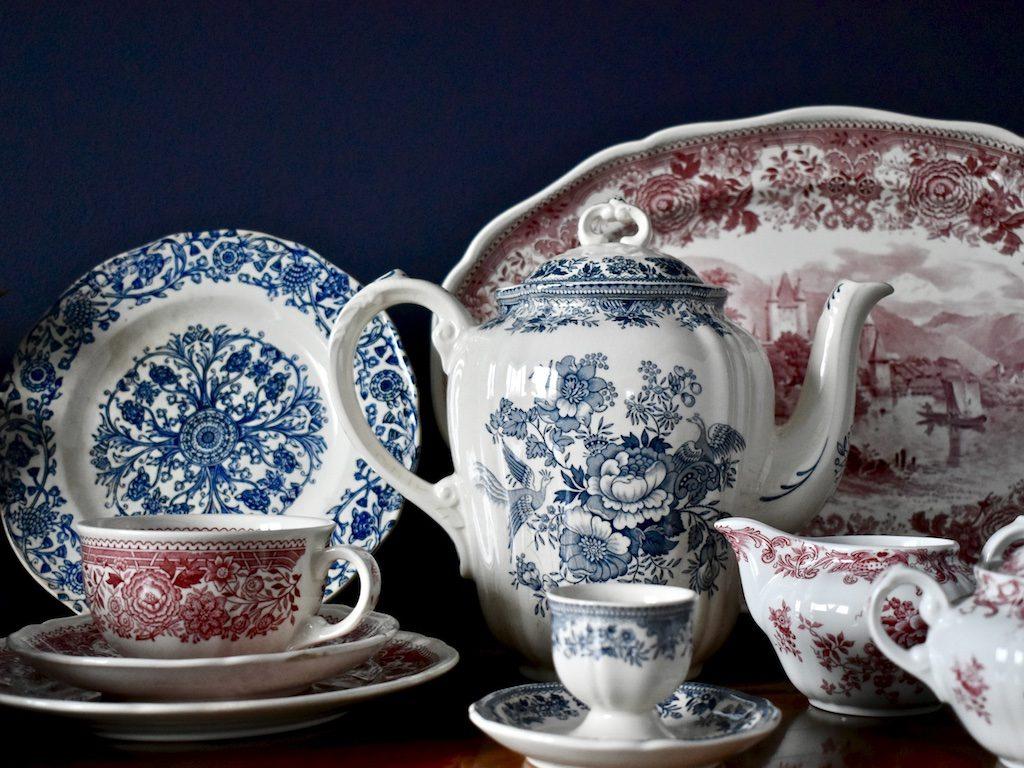 naczynia porcelanowe zestawy boho rustykalnie retro