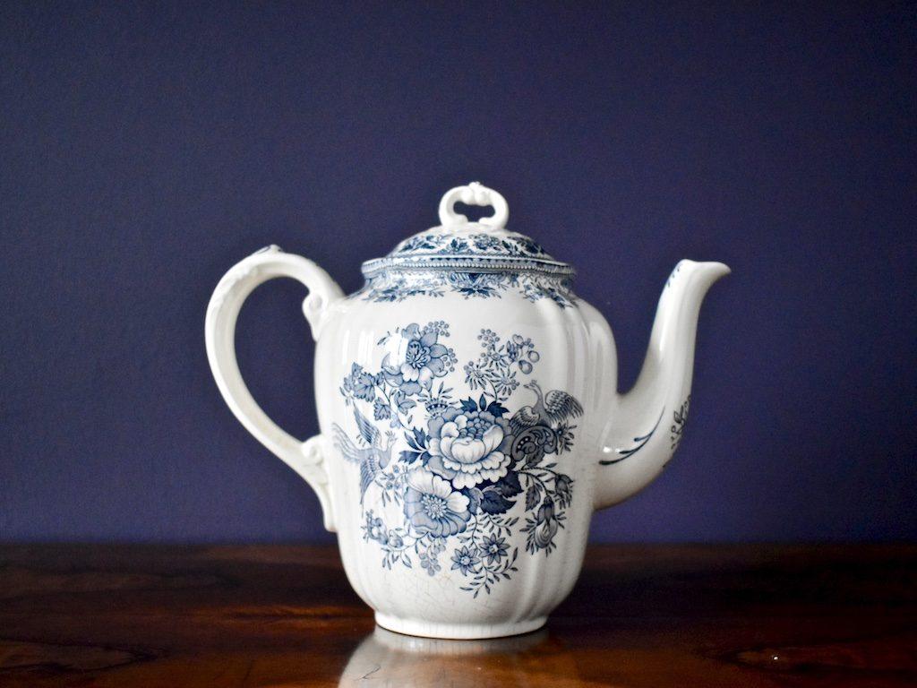 porcelanowy dzbanek od Villeroy & Boch stara seria Fasan niebieska antyk retro, boho, rustykalnie