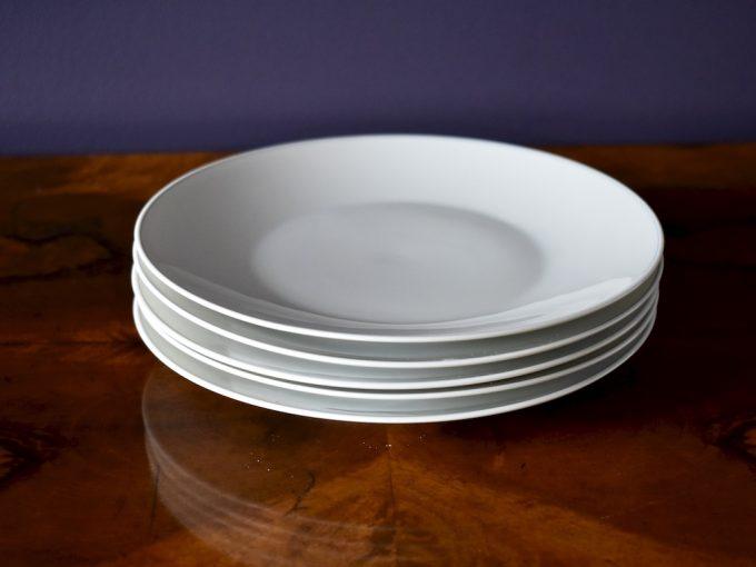 porcelanowe talerze sałatkowe, śniadaniowe Rosenthal