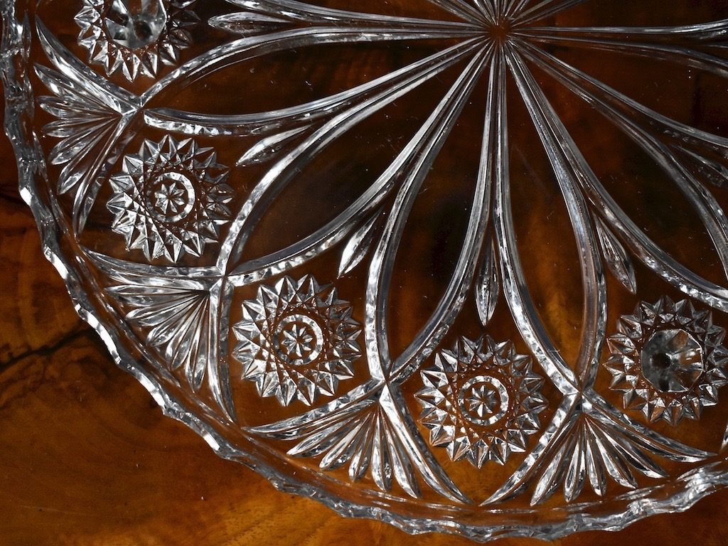 Kryształowa tortownica patera