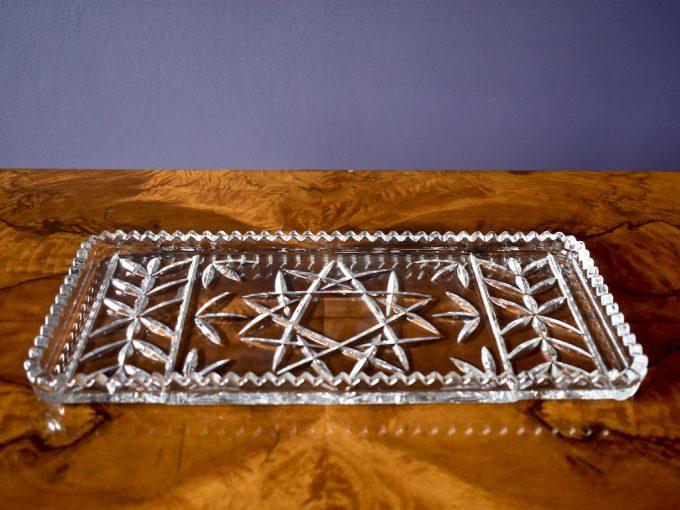 kryształowa patera półmisek