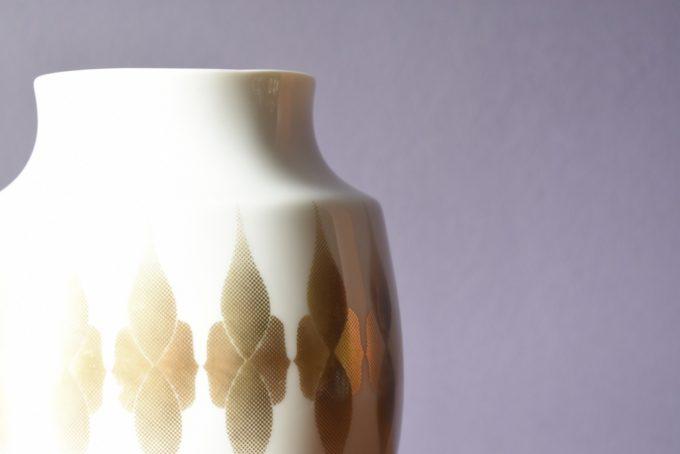 dekoracyjny wazon porcelanowy mid century design