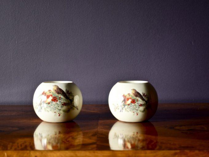 porcelanowe świeczniki tealight