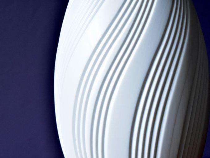 Wazon porcelanowy biskwit biały