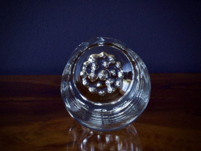 dekoracyjna szklanka szeroka