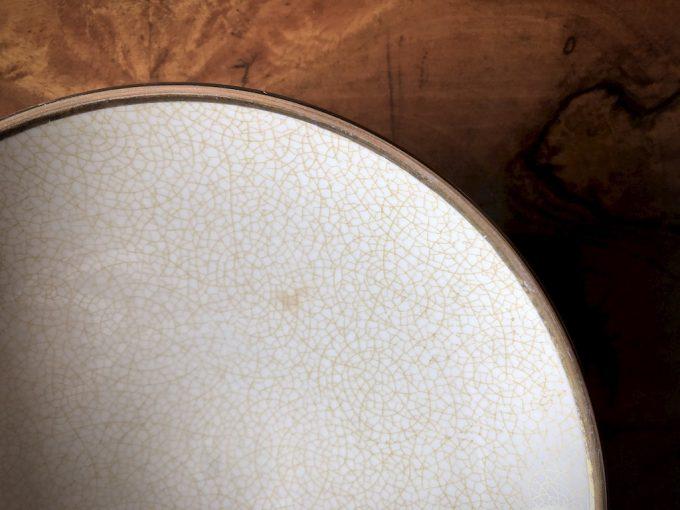 porcelanowa paterka ze złoceniem