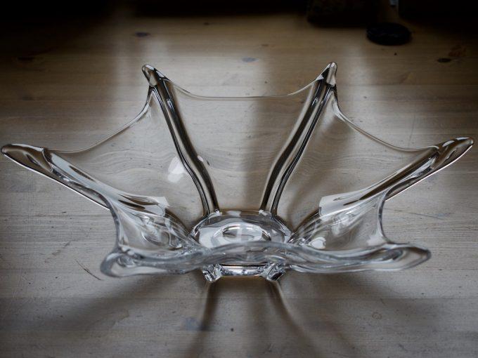duża szklana patera