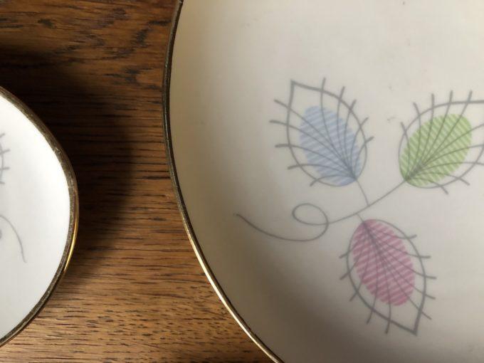 komplet porcelanowy półmisek i konfiturówki