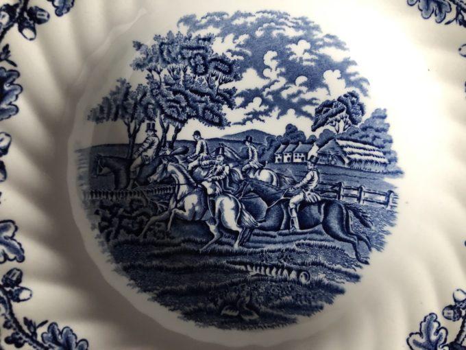 talerze głębokie porcelanowe Myotts England