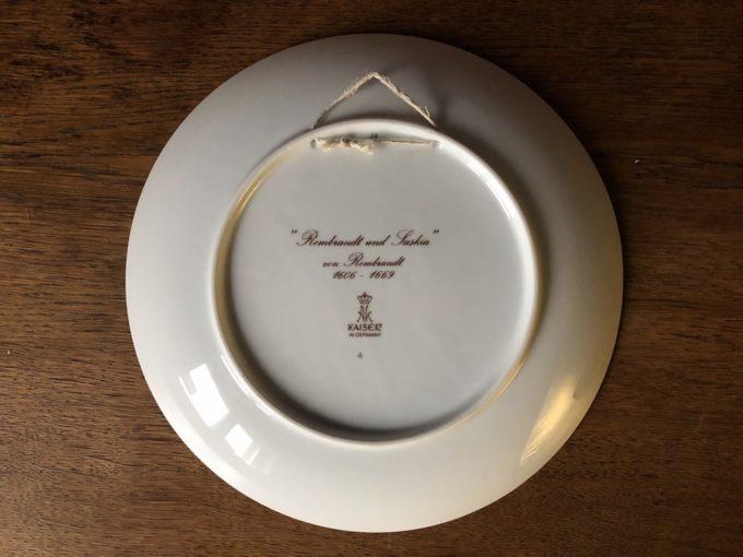 porcelanowy talerz dekoracyjny Kaiser
