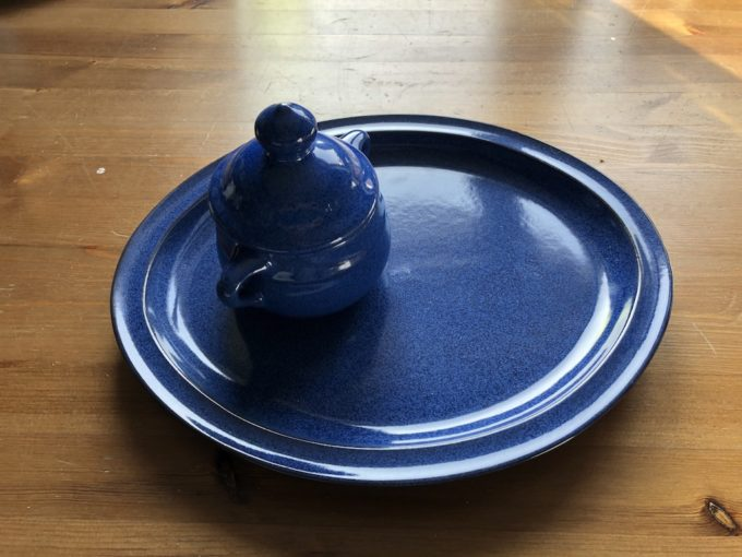 niebieski ceramiczny półmisek