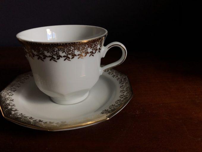 porcelanowa filiżanka Winterling złocenia