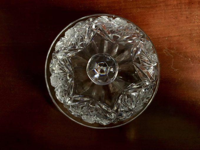 kryształowa maselnica