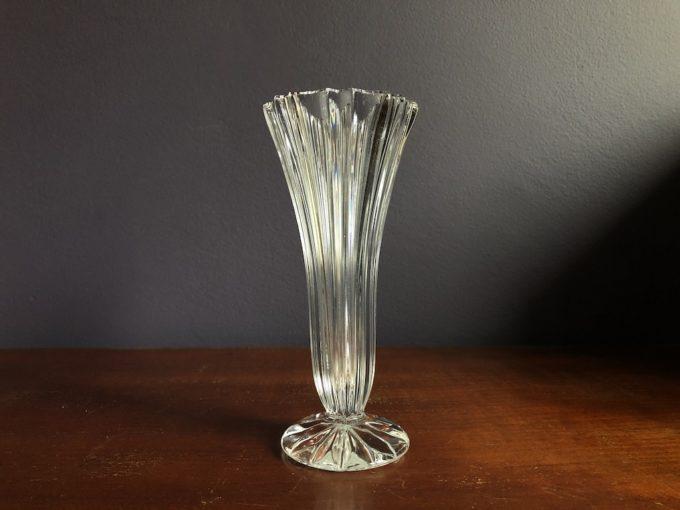 kryształowy wazonik flet