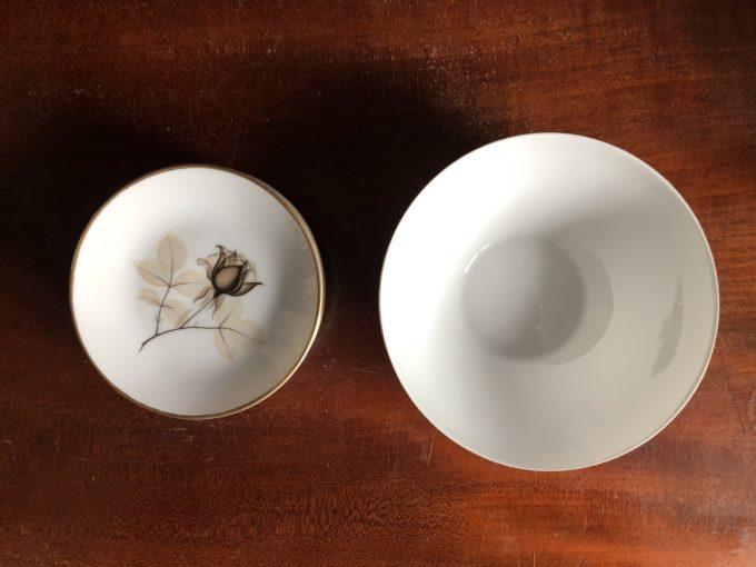 komplet porcelanowych konfiturówek z misą Rosenthal