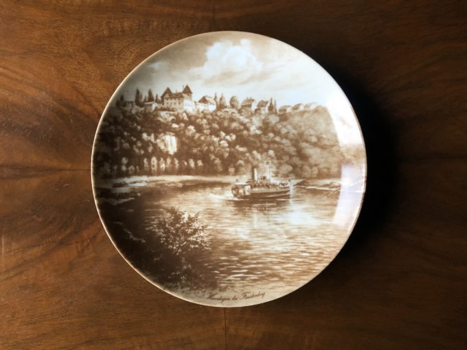 porcelanowy kolekcjonerski talerz dekoracyjny KAISER