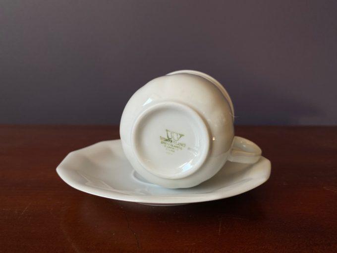 duo porcelanowe filiżanka z podstawką