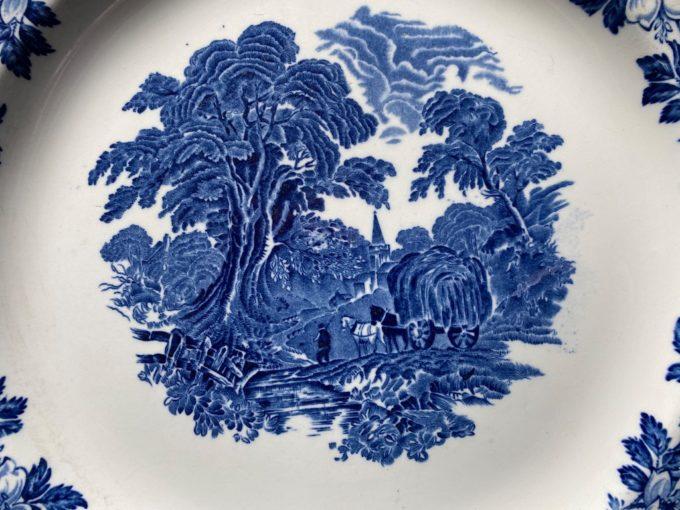 duży talerz angielska porcelana