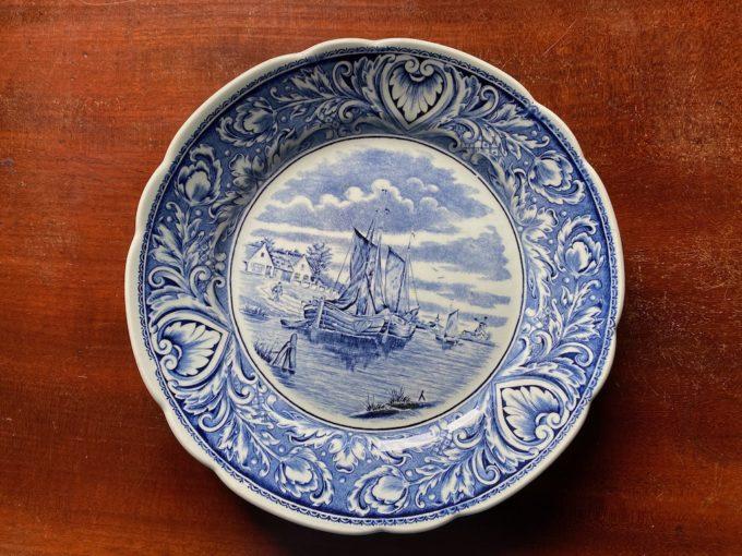 talerz kolekcjonerski BOCH Delfts motyw żeglarski