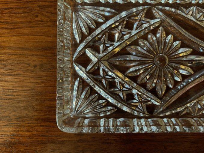 kryształowa patera prostokąt