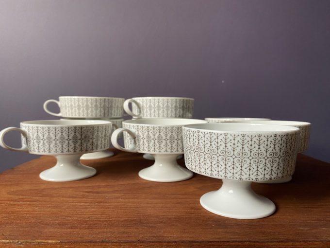 zestaw porcelanowych bulionówek Rosenthal