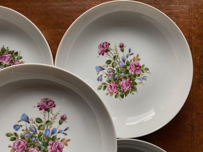 zestaw talerzy porcelanowych Melitta