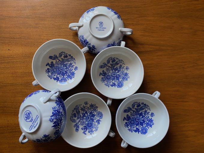 zestaw porcelanowych bulionówek Villeroy & Boch FASAN