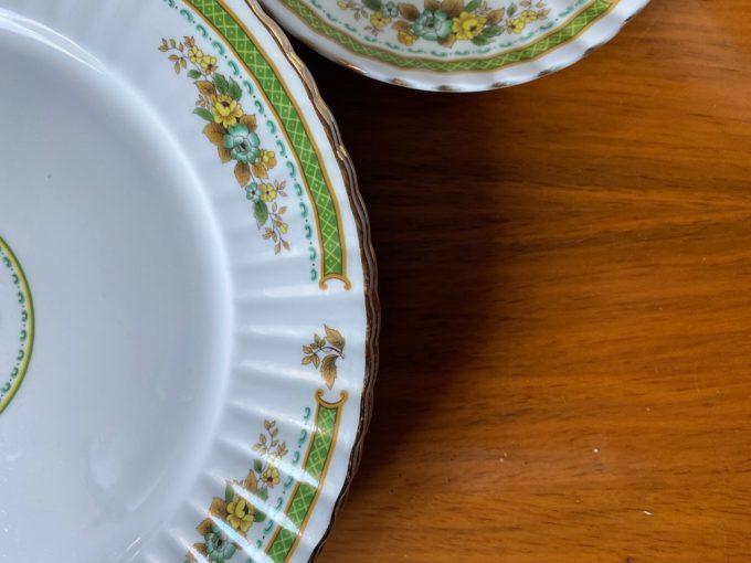 zestaw naczyń angielska porcelana